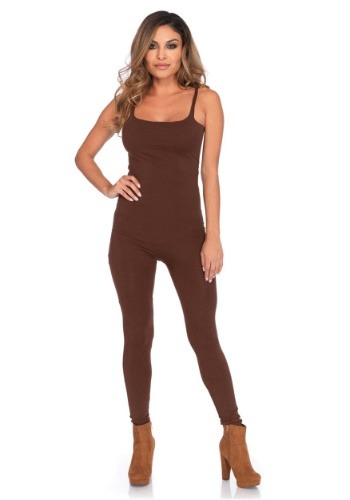 Basic Brown Unitard Costume for Women