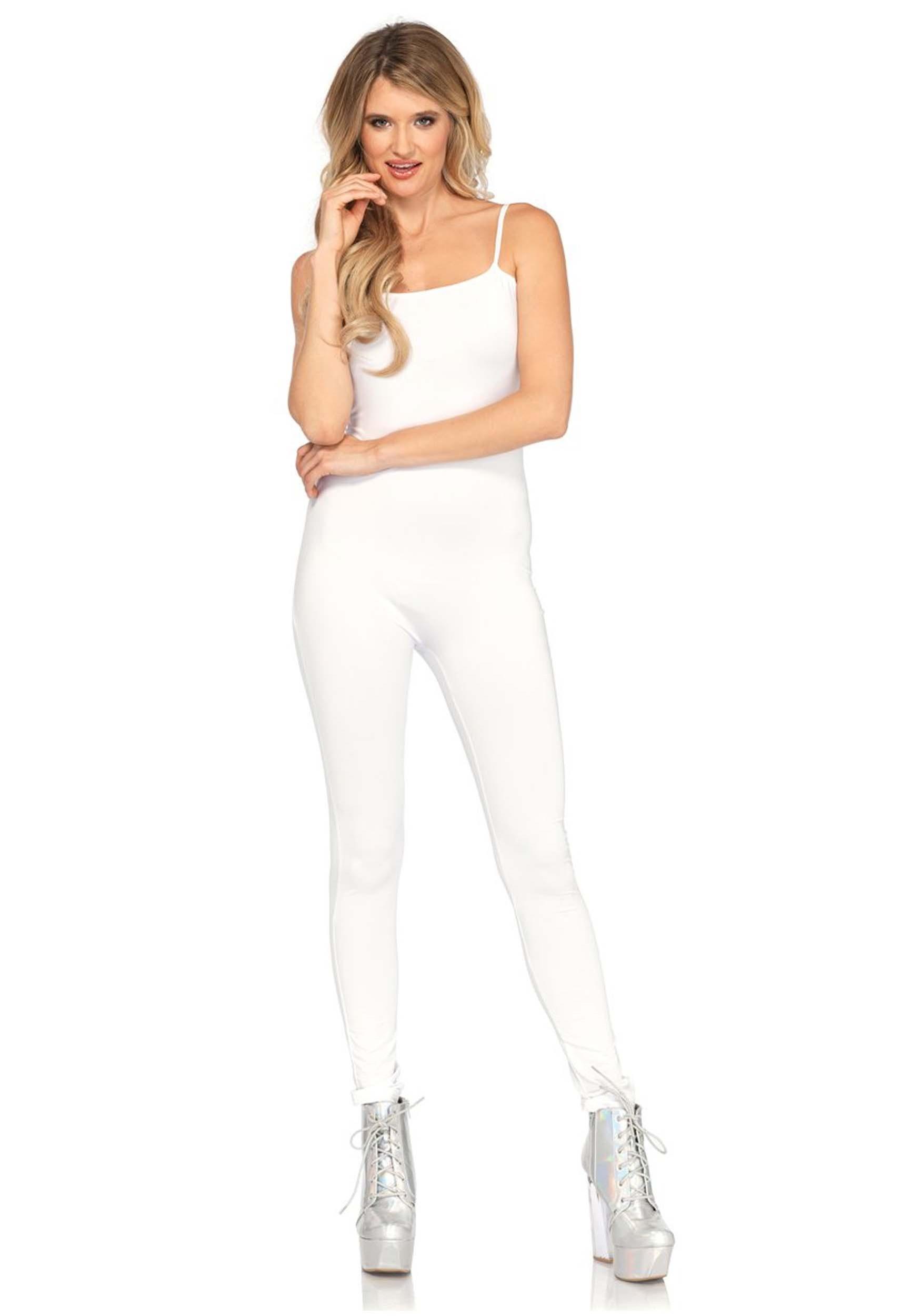 Basic White Unitard Costume for Women