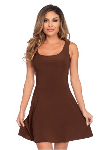 Basic Brown Skater Dress Costume for Women