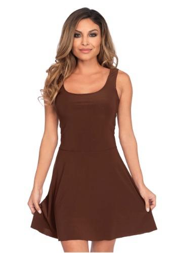 Women's Basic Brown Skater Dress