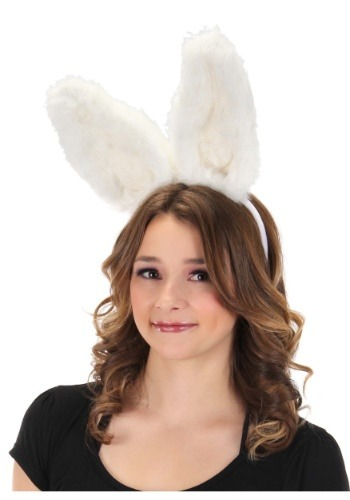 Bendable White Bunny Ears Headband