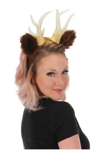 Antlers with Ears Deer Headband