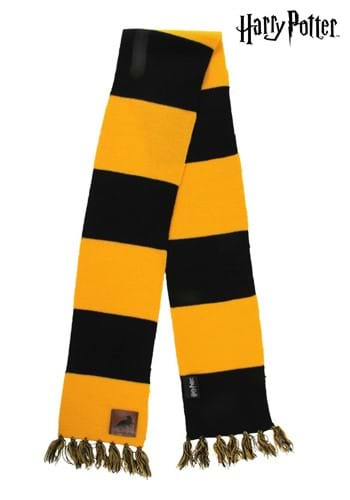 Hufflepuff Patch Striped Scarf