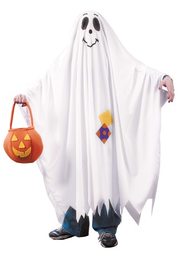 Click Here to buy Kids Friendly Ghost Costume from HalloweenCostumes, CDN Funds & Shipping
