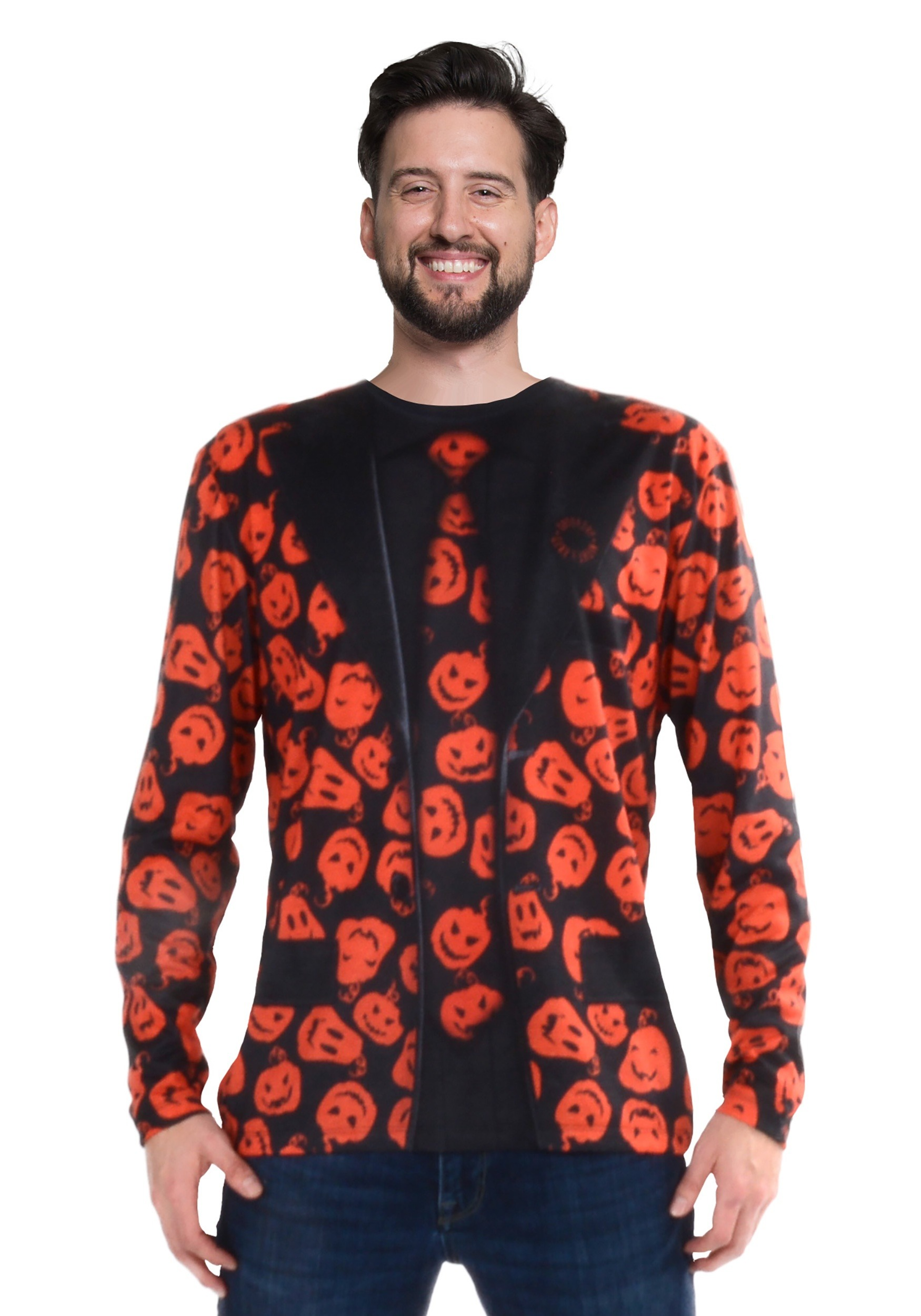 INOpets.com Anything for Pets Parents & Their Pets SNL David S Pumpkins Long Sleeve Suit Costume Tee