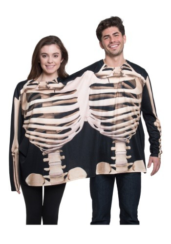 Skeleton Long Sleeved T shirt Costume for Two People