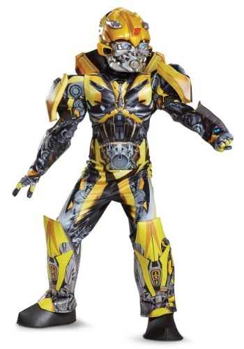 Click Here to buy Boys Transformers 5 Bumblebee Prestige Costume from HalloweenCostumes, CDN Funds & Shipping