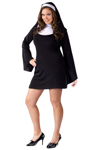 Click Here to buy Plus Size Naughty Nun Costume from HalloweenCostumes, CDN Funds & Shipping