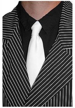 White Gangster Tie