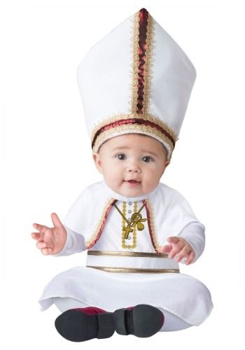 Click Here to buy Pint Sized Pope Baby Costume | Religious Costumes from HalloweenCostumes, CDN Funds & Shipping