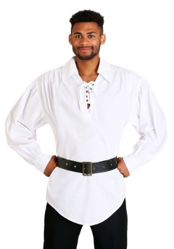 Click Here to buy White Pirate Shirt from HalloweenCostumes, CDN Funds & Shipping