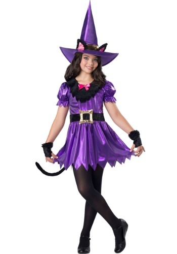 Kitty Kat Witch Costume for Girls