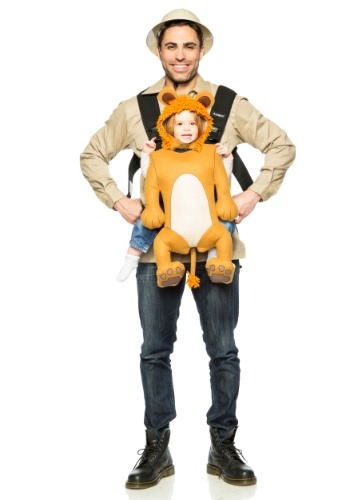 Click Here to buy Adult Safari Guide and Toddler Lion Costume from HalloweenCostumes, CDN Funds & Shipping