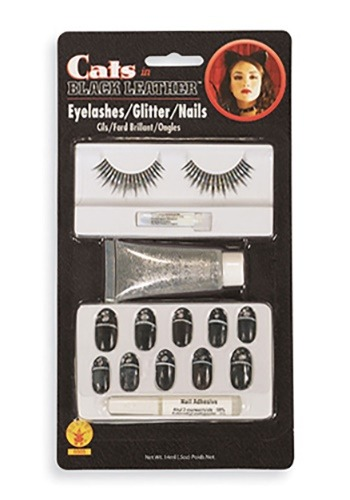 Cat Eyelashes / Nails / Glitter Kit