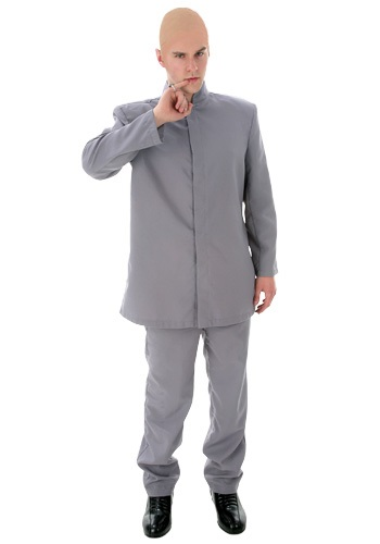 Plus Size Gray Suit Costume