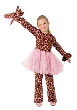 Girls Puppet Giraffe Costume