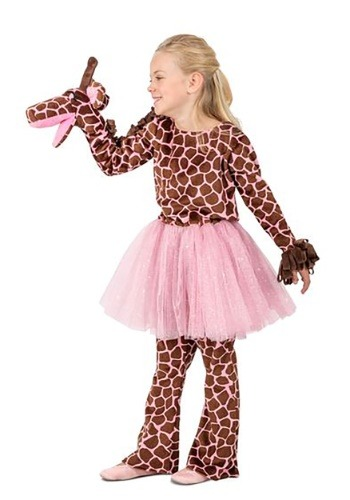 Click Here to buy Puppet Giraffe Costume for a Girl from HalloweenCostumes, CDN Funds & Shipping