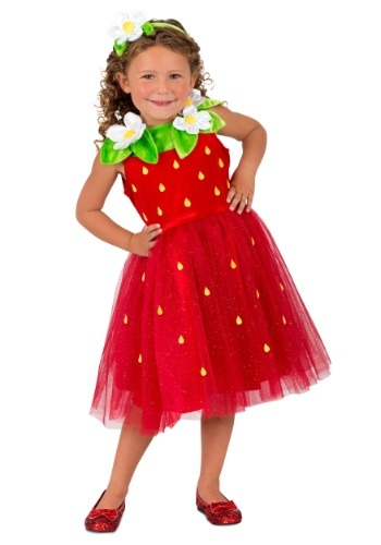 Girls Strawberry Sweetie Costume