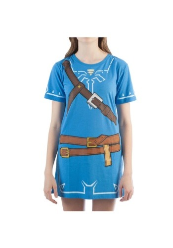 Womens Breath of the Wild Zelda Link Cosplay Costume Tunic