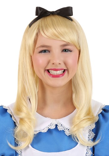 Click Here to buy Kids Alice Wig from HalloweenCostumes, CDN Funds & Shipping