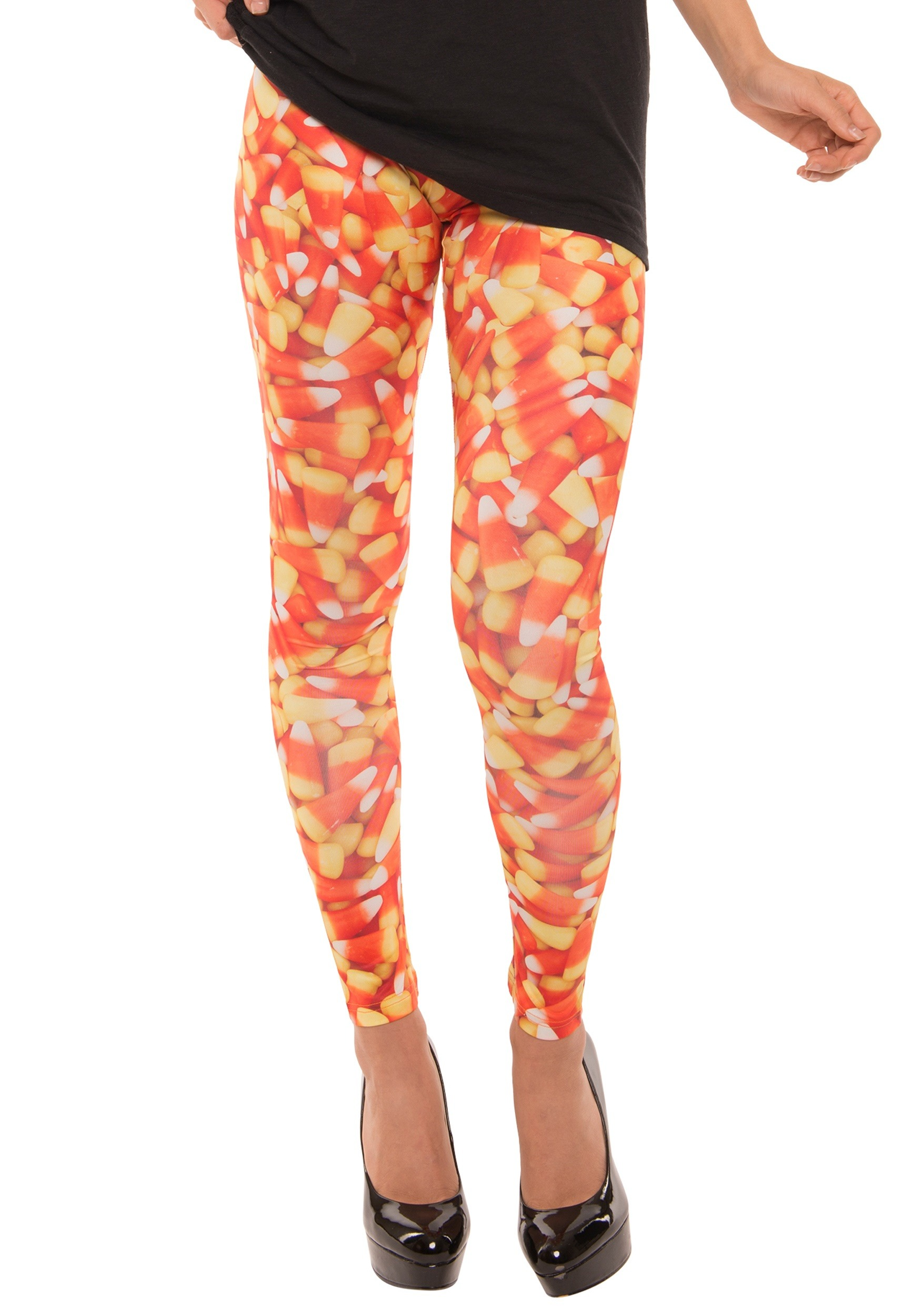 INOpets.com Anything for Pets Parents & Their Pets Candy Corn Womens Leggings