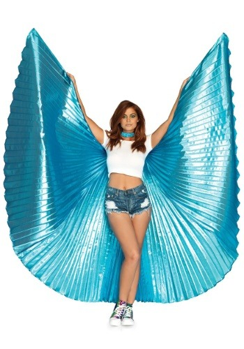 Blue Theatrical Wings