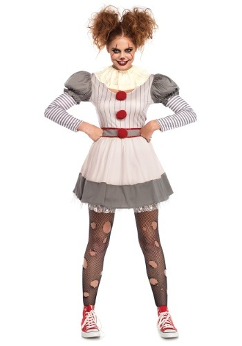 Click Here to buy Creepy Clown Womens Costume from HalloweenCostumes, CDN Funds & Shipping