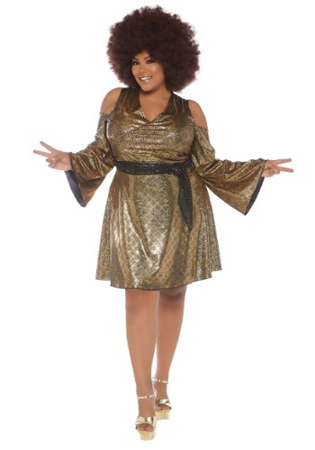 Womens Disco Doll Plus Size Costume