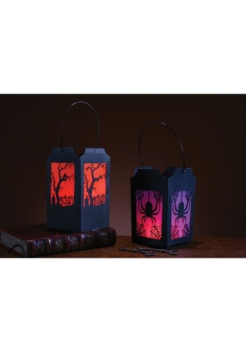 Pop-Open Purple & Orange Lantern Set