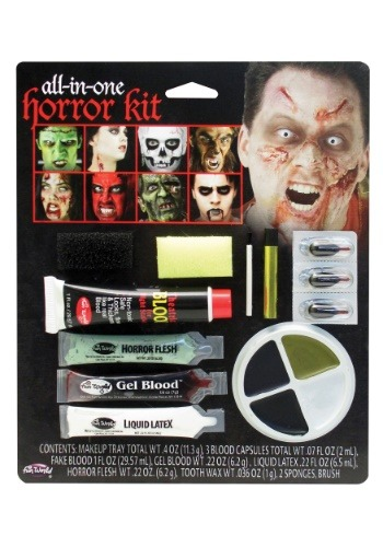 Click Here to buy All in One Horror Makeup Kit from HalloweenCostumes, CDN Funds & Shipping