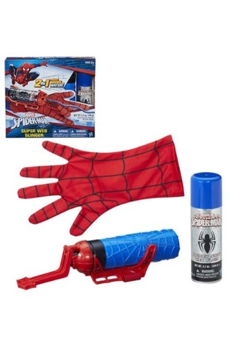 Click Here to buy Marvel Spider-Man Super Web Slinger Blaster Gun from HalloweenCostumes, CDN Funds & Shipping