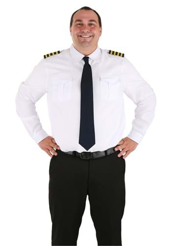 Pilot Uniform Costume Shirt Plus Sizes 2X, 3X