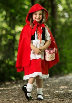 Deluxe Child Little Red Riding Hood Costume Main