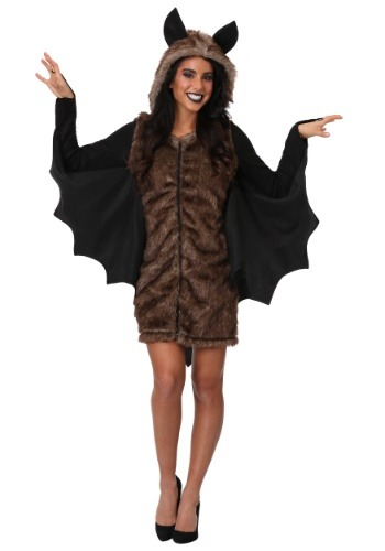 Click Here to buy Deluxe Bat Costume for Plus Size Women from HalloweenCostumes, CDN Funds & Shipping