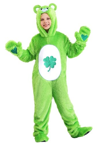 Click Here to buy Kids Care Bears Classic Good Luck Bear Costume from HalloweenCostumes, CDN Funds & Shipping