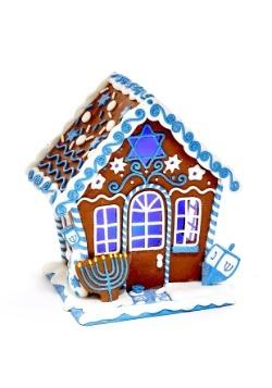 7 inch Claydough LED Hanukkah Gingerbread House