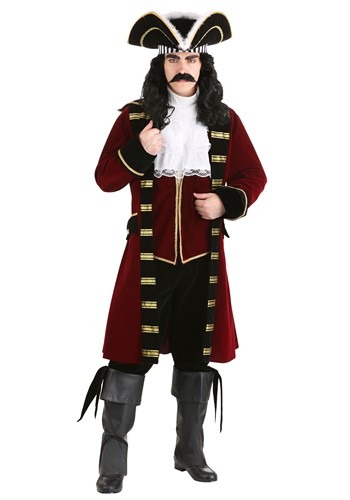 Deluxe Captain Hook Costume | Mens Pirate Costume