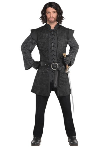 Warrior Black Tunic Mens Costume