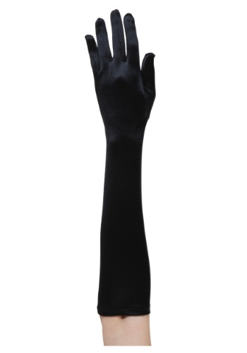 Black Flapper Costume Gloves