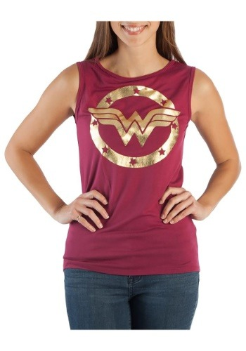 Ladies Wonder Woman Logo Hi-Lo Tank