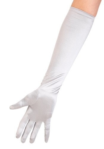 Silver Costume Gloves