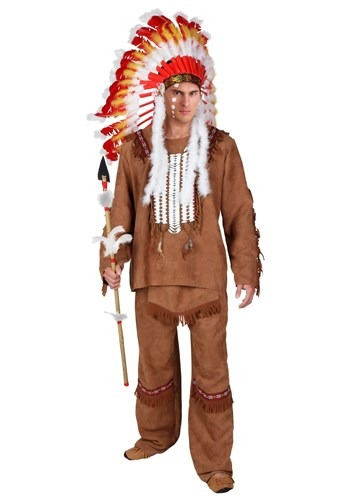 Click Here to buy Deluxe Mens Native American Costume from HalloweenCostumes, CDN Funds & Shipping