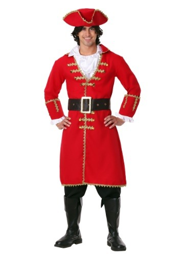 Click Here to buy Captain Blackheart Pirate Costume - Red Pirate jacket from HalloweenCostumes, CDN Funds & Shipping