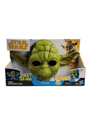 Click Here to buy Star Wars Yoda Electronic Kids Mask from HalloweenCostumes, CDN Funds & Shipping