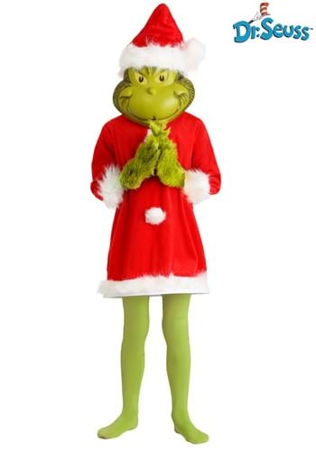 The Grinch Santa Deluxe Kids Costume with Mask
