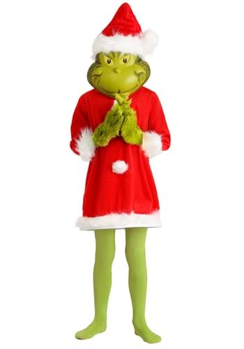 Click Here to buy The Grinch Santa Deluxe Kids Costume with Mask from HalloweenCostumes, CDN Funds & Shipping