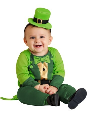 Click Here to buy Boys Leprechaun Baby Costume | St. Patrick day outfit from HalloweenCostumes, CDN Funds & Shipping