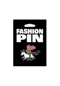 Mermaid on a Unicorn Fashion Pin