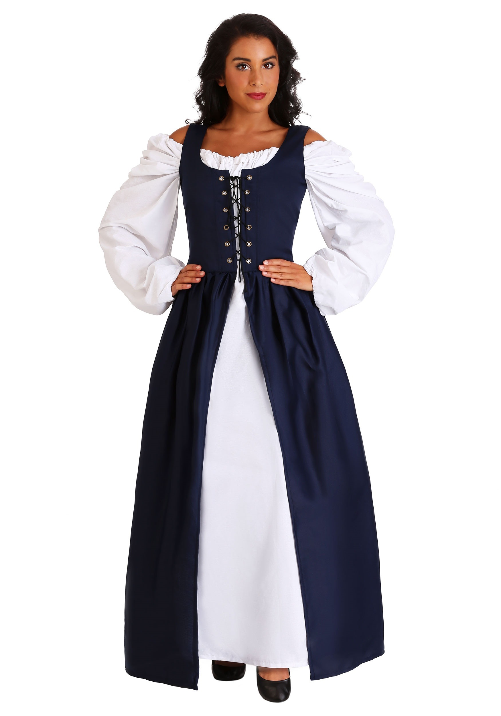 6a518889577 Navy Irish Renaissance Dress Costume