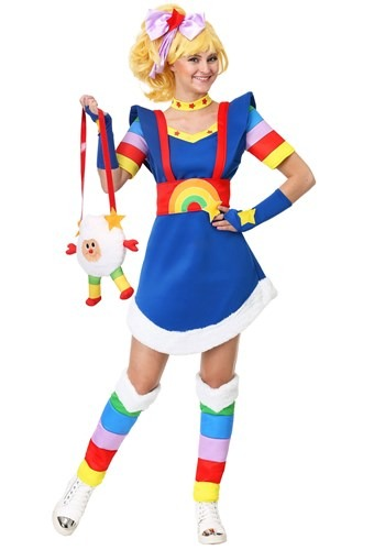 Click Here to buy Rainbow Brite Womens Plus Size Costume from HalloweenCostumes, CDN Funds & Shipping